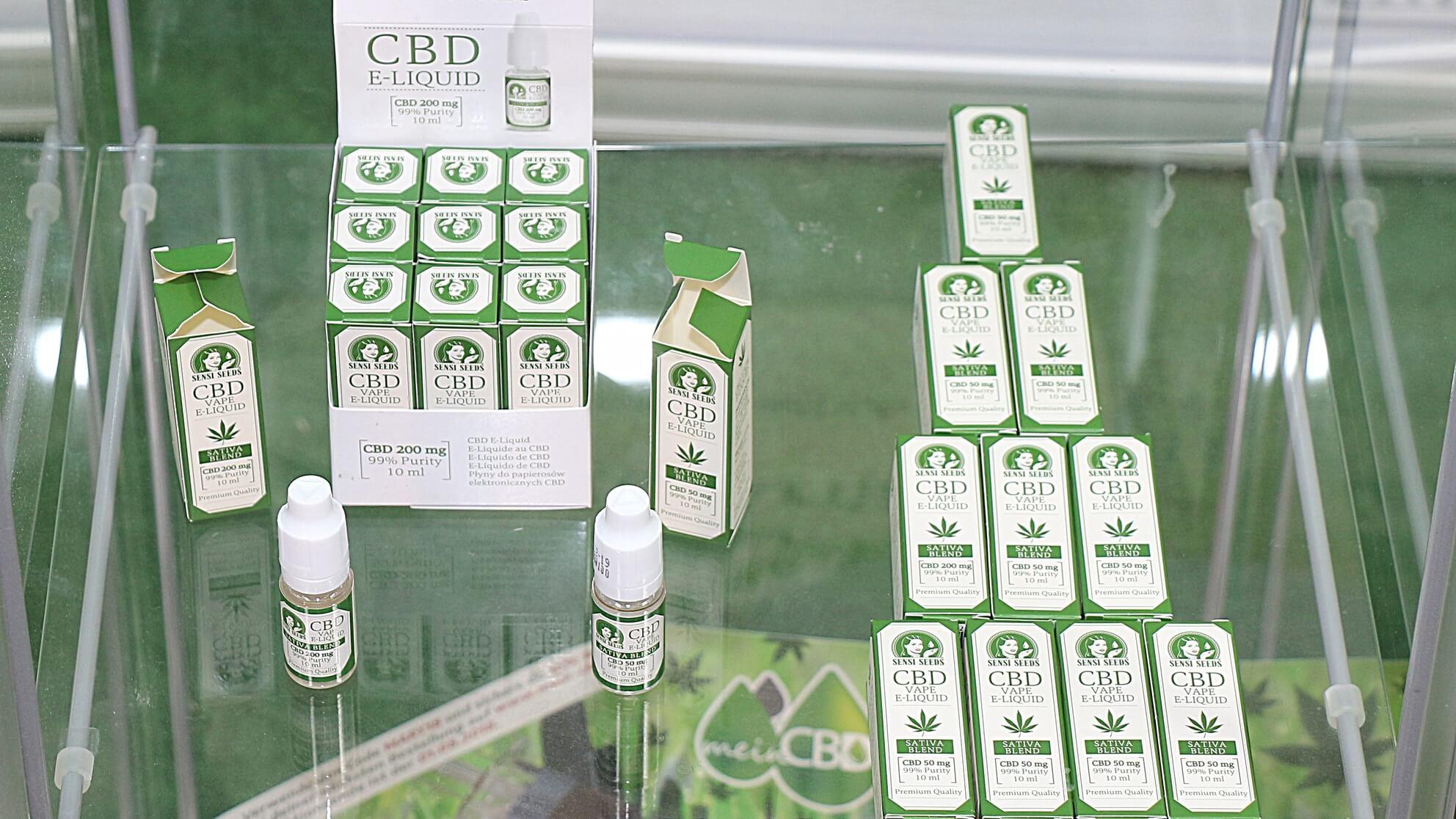 Dieses eLiquid mit CBD wird als Wellnessprodukt im freien Einzelhandel vertrieben