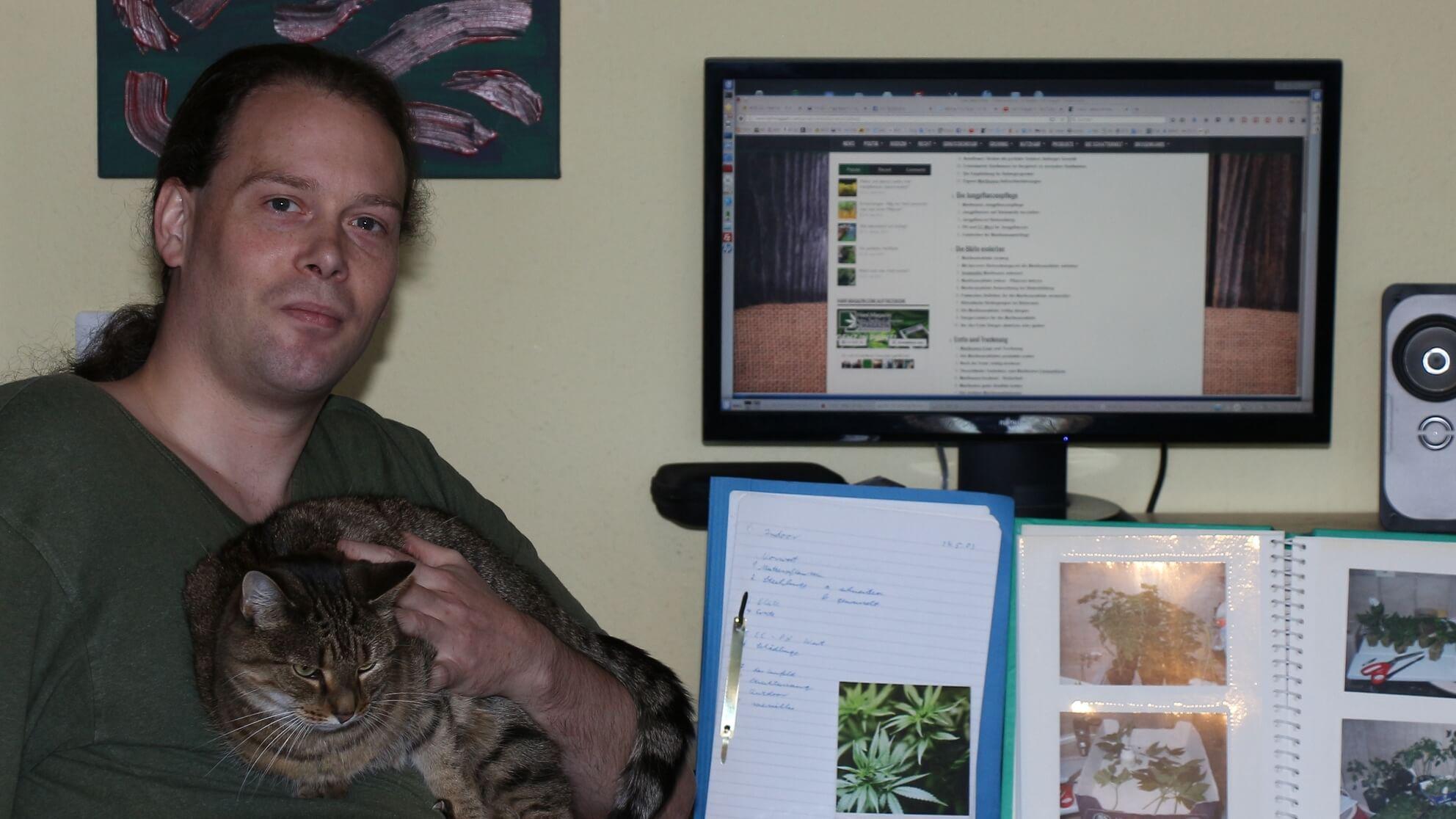 Hier geht es mit dem Projekt Hanftube weiter – im Homeoffice mit der House-Cat Dgani