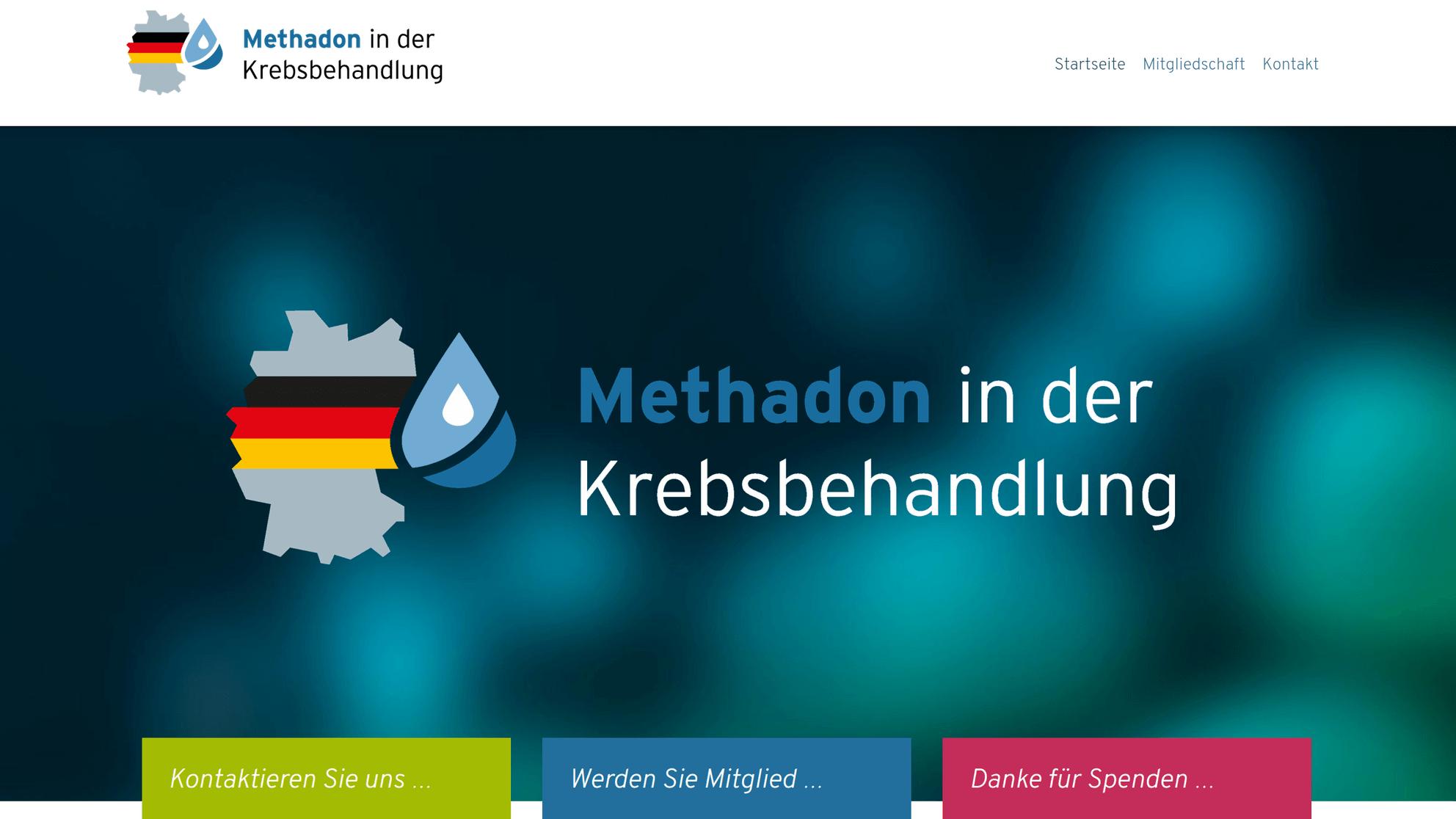 Für die Erforschung und Etablierung – Methadon in der Krebsbehandlung Deutschland e.V. – Screenshot